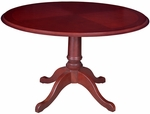 Prestige 42'' Round Wooden Table with Inlaid Edge - Mahogany [TVCTR42MH-FS-REG]