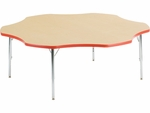 Primary Collection 4000 Series 60'' Flower Top Laminate Activity Table with Short Chrome Legs [48FLOW60-PC-VCO]