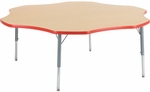 Primary Collection 4000 Series Flower Top Laminate Activity Table - 60''W x 60''D x 22''H - 30''H [48FLOW60-PC-VCO]