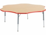 Primary Collection 4000 Series 60'' Flower Top Laminate Activity Table [48FLOW60LOCHRM-PC-VCO]