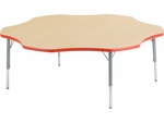 Primary Collection 4000 Series 60'' Flower Top Laminate Activity Table with Short Legs [48FLOW60LO-PC-VCO]