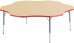 Primary Collection 4000 Series Flower Top Laminate Activity Table with Short Legs - 60''W x 60''D x 17''H - 25''H [48FLOW60LO-PC-VCO]
