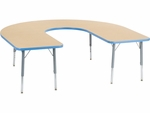 Primary Collection 4000 Series 60''W x 66''L Deep-Center Horseshoe Laminate Activity Table [48HORSE60DCLO-PC-VCO]