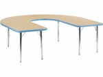 Primary Collection 4000 Series 60''W x 66''L Deep-Center Horseshoe Laminate Activity Table [48HORSE60DCLOCHRM-PC-VCO]