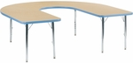 Primary Collection 4000 Series Deep-Center Horseshoe Laminate Activity Table with Short Chrome Legs - 60''W x 66''D x 17''H - 25''H [48HORSE60DCLOCHRM-PC-VCO]