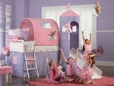 Princess Castle Twin Size Tent Bed with Slide