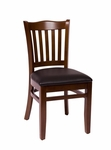 Princeton Walnut Wood School Chair - Vinyl Seat [LWC7218WABLV-BFMS]