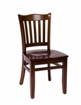 Princeton Walnut Wood School Chair - Wood Seat [LWC7218WAWAW-BFMS]