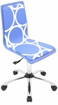Printed Circles Office Chair in Blue [OFC-TM-PCRC-BU-FS-LUMI]