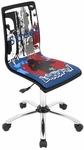 Printed Graffiti Office Chair in Black [OFC-TM-PGRAF-BK-FS-LUMI]