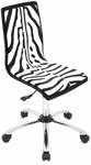 Printed Zebra Office Chair in Black and White [OFC-TM-PZB-BK-W-FS-LUMI]