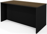 Pro-Concept Executive Desk with Full Modesty Panel - Milk Chocolate Bamboo and Black [110400-1198-FS-BS]