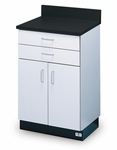 Pro-Line Base Cabinet with 2 Doors and 2 Drawers - 24''W X 18''L X 40''H [HAU-B-24-2D-FS-HAUS]