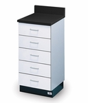 Pro-Line Base Cabinet with 5 Drawers - 18''W X 18''L X 36''H [HAU-B-18-5D-FS-HAUS]