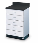 Pro-Line Base Cabinet with 5 Drawers - 24''W X 18''L X 36''H [HAU-B-24-5D-FS-HAUS]