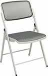 Pro-Line II Deluxe 400 lb Weight Capacity Folding Chair with ProGrid® Seat and Back - Set of 2 - Beige [81108-OS]