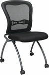 Pro-Line II Deluxe Armless Folding Chair With ProGrid® Back and Casters - Set of 2 - Black [84220-30-OS]