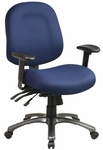 Pro-Line II Ergonomic Mid-Back Chair with Multi Function Control and Titanium Finish Accents [8512-FS-OS]