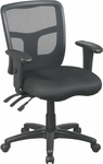 Pro-Line II ProGrid® Back Managers Chair with Adjustable Seat and Arms - Black [92343-30-FS-OS]