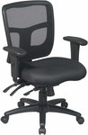 Pro-Line II ProGrid® Back Managers Chair with 2-Way Adjustable Arms and Seat Height Adjustment - Black [92893-FS-OS]