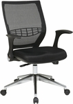 Pro-Line II ProGrid® Back Managers Chair with Flip Arms - Black [80885AL-3-FS-OS]