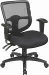 Pro-Line II ProGrid® Ergonomic Task Chair with Ratchet Back,Dual Function Control and Arms - Black [98344-30-FS-OS]