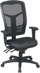 Pro-Line II ProGrid® High Back Titanium Finish Chair with Adjustable Arms and Seat Slider - Black [92892-FS-OS]