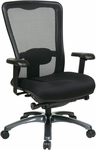 Pro-Line II ProGrid® High Back Fabric Seat Task Chair with Lumbar Support and Adjustable Seat Height - Black [97720-30-FS-OS]