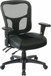 Pro-Line II ProGrid® Mesh Back Managers Chair with Leather and Mesh Seat - Black [98346-FS-OS]