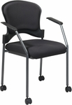 Pro-Line II Upholstered Contour Back Stacking Visitors Chair with Lumbar Support and Casters [82740-OS]