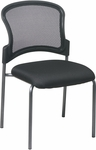 Pro-Line II Titanium Finish Visitors Stack Chair with ProGrid® Back and Straight Legs - Black [86724-FS-OS]
