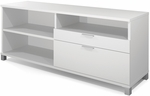 Pro-Linea Credenza with Adjustable Shelving and Storage Drawers - White [120610-1117-FS-BS]