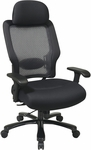 Space Professional Air Grid Back and Mesh Seat Office Chair with 400 lb. Weight Capacity and Lumbar Support - Black [63-37A773HM-FS-OS]