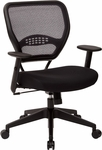 Space Professional Air Grid Back Managers Chair with Mesh Seat and 2-to-1 Synchro Tilt Control - Black [5500-FS-OS]