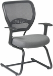 Space Professional AirGrid® Back Visitors Chair with Custom Fabric Seat and Fixed Arms [55-7V30-FS-OS]