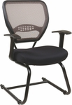 Space Professional AirGrid® Back Visitors Chair with Black Mesh Seat - Latte [55-38V30-FS-OS]