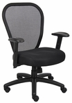Professional Managers Mesh Chair with Synchro Tilt Mechanism - Black [B6608-FS-BOSS]