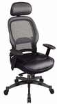 Space Professional Matrex Mesh Back Chair with Infinite Locking Synchro Knee Tilt and Adjustable Padded Arms [27008-FS-OS]