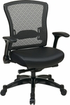 Space Professional R2 SpaceGrid® Back Chair with Memory Foam Mesh Seat and Flip Up Arms [317-ME3R2C7KG5-FS-OS]