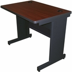 Pronto® 36'' W x 24'' D Modesty Panel Training Table - Dark Neutral Frame with Mahogany Top [PTR3624M-FS-MVL]