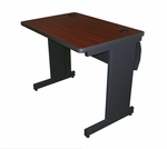 Pronto® 36'' W x 24'' D Training Table with Lockable Raceway - Dark Neutral Frame with Mahogany Top [PTR3624L-FS-MVL]