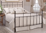 Providence Traditional Metal Bed Set with Rails - Queen - Antique Bronze [380BQR-FS-HILL]