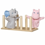 Puppet Holder with Eight Puppet Holding Dowels - Assembled - 16''W x 6''D x 6''H [23000-WDD]
