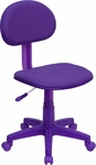 Purple Fabric Ergonomic Swivel Task Chair [BT-698-PURPLE-GG]
