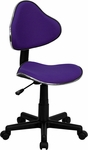 Purple Fabric Ergonomic Swivel Task Chair [BT-699-PURPLE-GG]