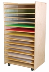 Puzzles, Paper and Games Rack - Assembled - 27''W x 21''D x 48''H [33500-WDD]