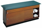 Quality Line Treatment Table with Fully-Enclosed Storage Cabinet - 27''W X 72''L X 31''H [HAU-4043-027-FS-HAUS]