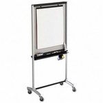 Quartet 3 In 1 Easel -Adjustable -39'' x 20'' x 76'' -4 Mrkrs/1 Eraser -Silver [QRT500TE-FS-SP]