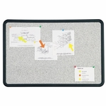 Quartet Bulletin Board - 3' x 2' - Black Frame/Fau x Granite [QRT699370-FS-SP]