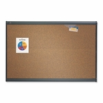Quartet Bulletin Board - 6' x 4' - Graphite Frame [QRTB247G-FS-SP]